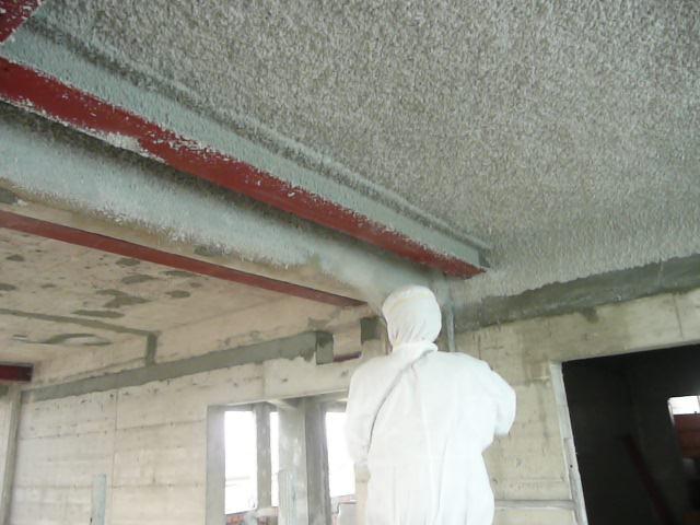 Brandschutzertüchtigung von Betondecken und Stahlträgern