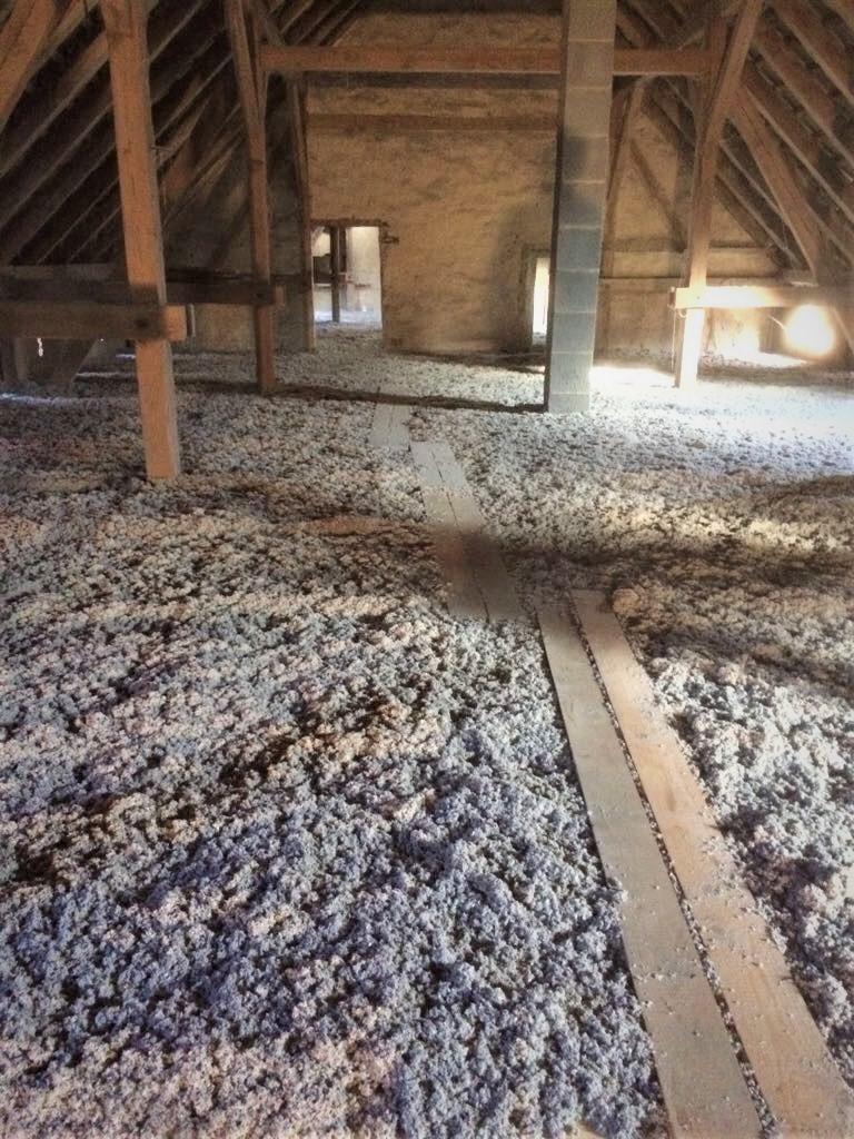 Deckendämmung Scheune Steinhöfel - Zellulose aufgeblasen
