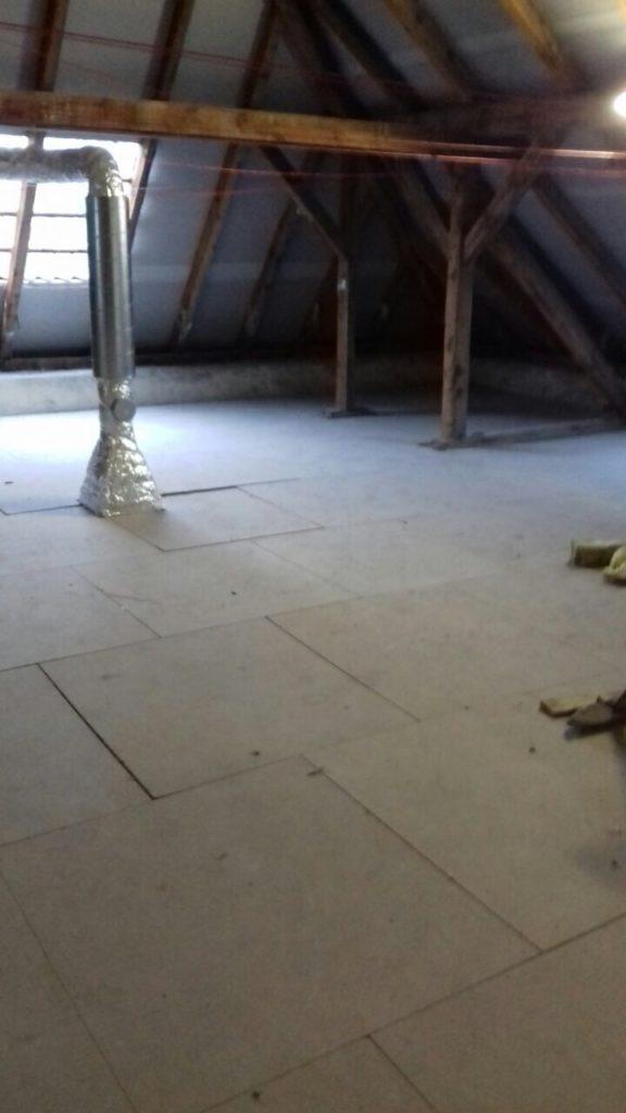 Deckendämmung für Fußbodenaufbau - Decke alt