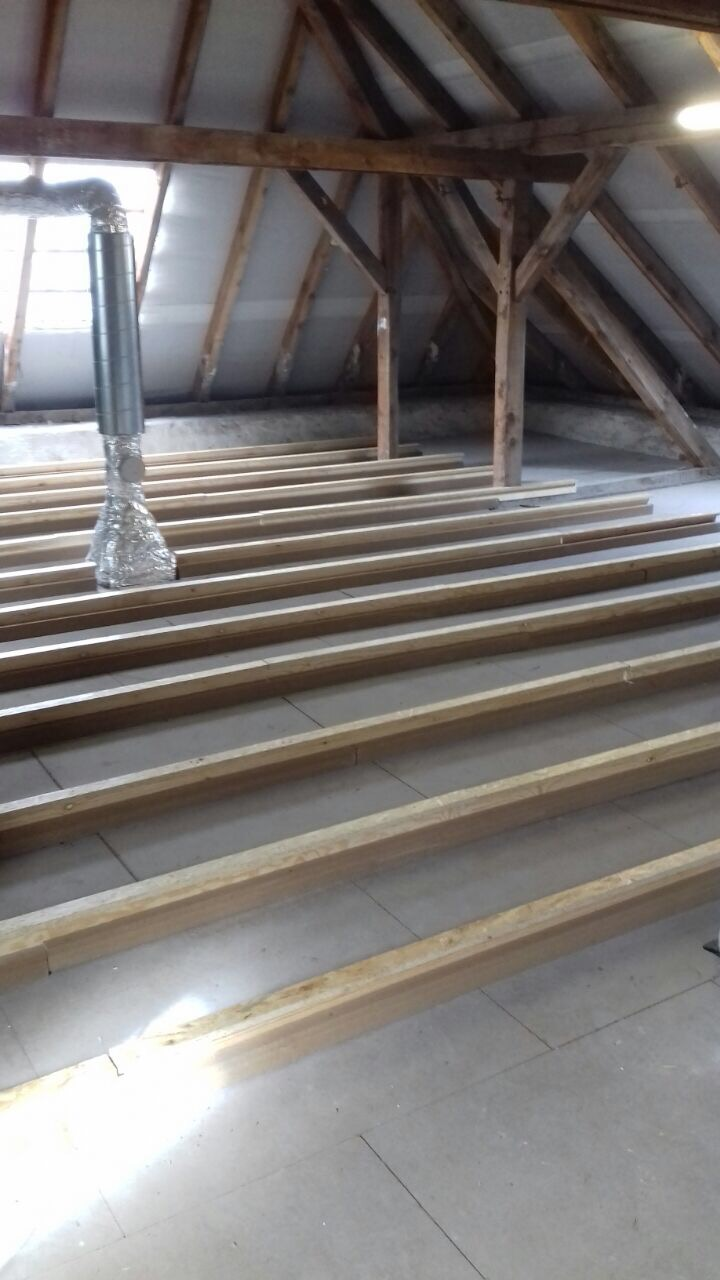Fußbodenerhöhung mit Hufer System