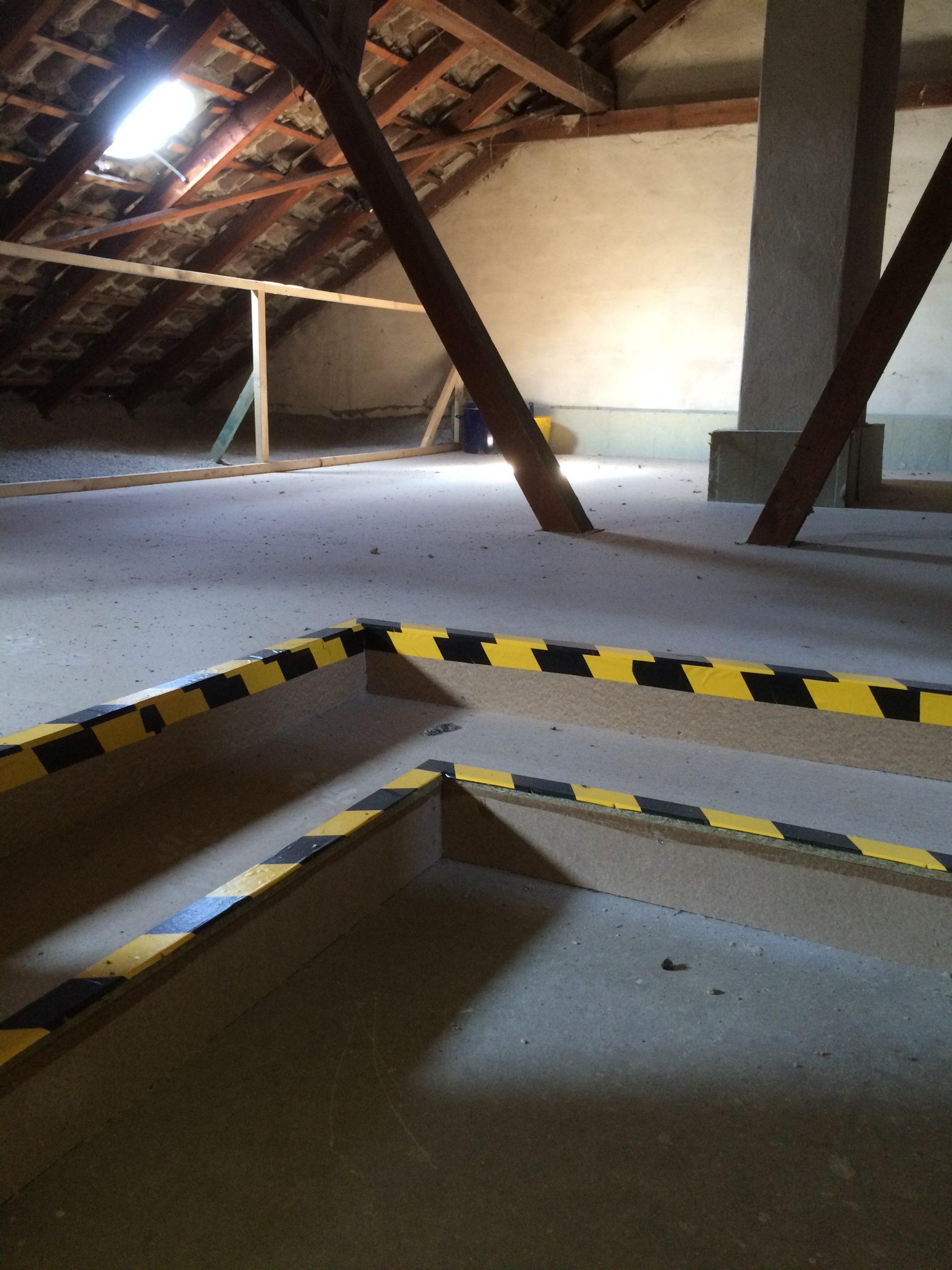 Deckendämmung-oberste Geschossdecke Minden Herstellen eines begehbaren Bereiches mit Treppenbereich